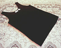 Chico's Travelers Size 0 Black Sleeveless Soft Slinky Fabric Tank Top Acetate