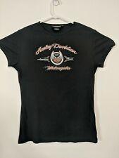 Harley-Davidson 105th Anniversary XL Women's Black Bling T-Shirt S/S EUC