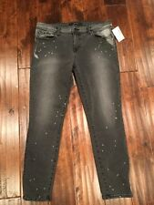 J Brand Black Skinny Ankle Cropped Jeans, Size 32 New! $238