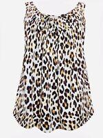 Ladies Animal Print Sleeveless blouse Top plus size 18/20 20/22 24/26  Vest  217