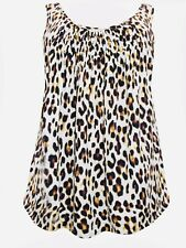 Ladies Animal Print Sleeveless blouse Top plus size 20 22  Swing Vest  217