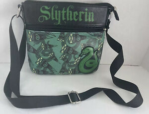 Harry Potter SLYTHERIN Loungefly Crossbody Bag Purse Green faux leather.