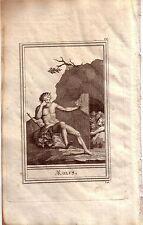 Aiolos Aeolus Stammvater Hellenen Mythologie Portrait Orig Kupferstich 1800