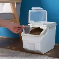 Pet Food Rice Storage Container 4-6KG Moistureproof Airtight Case for Oatmeal r