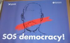 Separatist Catalan Poster Girona Spain SOS Democracy Protest Independence