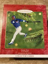 2001 Hallmark Sammy Sosa Ornament Nib #6 At the Ballpark Baseball Chicago Cubs