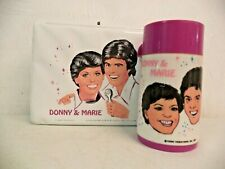 VINTAGE ALADDIN INDUSTRIES DONNY & MARIE SHORT HAIR VINYL LUNCHBOX WITH THERMOS