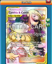 Cynthia & Caitlin FA FULL ART Pokemon TCG Online PTCGO FAST 228/236