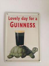 Guinness Bier - LOVELY DAY TURTLE SCHILDKRÖTE - Mini Blechschild Blechkarte 20