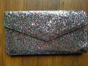 Clutch Bag, sparkly Multi Coloured, Glamorous VGC