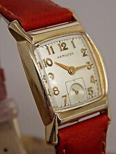 Vintage 1950s Hamilton WYNN 10K natural gold filled 22 jewel gents wrist watch