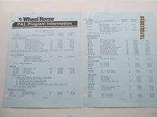 Wheel Horse 1984 Allied Attachment Price List