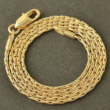 Heavy 14K Solid Gold Plated Womens Mens Boys Snake Chain Necklace 20 Inch
