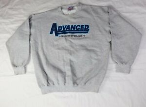 Vintage Hanes Crew Neck pullover Sweater Large Blue Gray