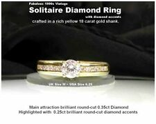 Excellent Cut Yellow Gold Natural SI1 Fine Diamond Rings