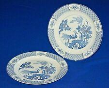 "Wood & Sons 2 x Yuan Blue & White Dinner Plates 10"" Diameter."