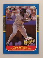 Tony Gwynn 1987 Donruss Highlights #12 San Diego Padres HOF
