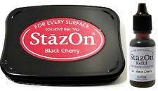 StazOn *Black Cherry* Solvent Ink Pad & Ink Refill  345767G