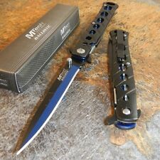 MTech Spring Assisted Open BLACK & BLUE Tactical Folding Pocket Knife