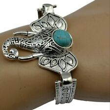 BNIB Elephant Bracelet Tibetian Silver Turquoise Stone