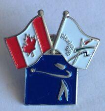 Edmonton 2001 Athletic Championships Shot Put Pin Badge Rare Canada Flag (F1)