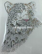 Hotfix Strass Bügelbild  persischer Leopard Katze Raubkatze 110811 Karostonebox
