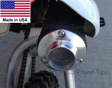HONDA XR50 CRF50 XR70 CRF70 50 70 MUFFLER 2D POWER TIP w/ SPARK ARRESTOR SCREEN