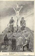 CPA GUERRE 14-18 WW1 FANTAISIE à genoux pour le prier debout pour le défendre
