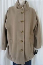 Alfani Coat Sz 10 Truffle Heavy Weight Fleece Career Casual Jacket Outerwear