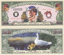 Two Mother's Day One Million Dollar Mom Money Bills # 082