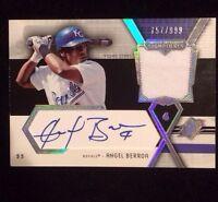 ANGEL BERROA 2004 UPPER DECK Autographed Signed Baseball JERSEY Card ROYALS SSAB