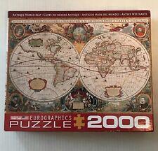 Eurographics 2000 Piece Antique World Map Puzzle