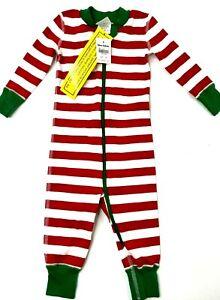 Hanna Andersson Holiday Stripe Sleeper LJ Red Stripe Sz 6-12 Mnth 70 cm Unisex