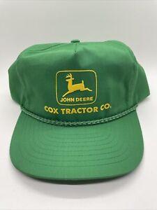 vintage john deere hat, cox tractor company, tennessee, snapback, 80s, 90s,