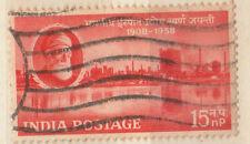 1958 India TIMBRO ROSSO - 15 N P-vedi scansione