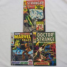 MIXED LOT OF MARVEL COMICS - SILVER AGE - STRANGE TALES, DR STRANGE, SPIDERMAN