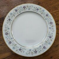 "Noritake Longwood Dessert Salad Plates 8"" Set of 4 Gold Trim Fine China Floral"