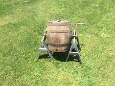 Primitive Wood Dairy Barrel , Churn, Mixer Drum, Dobson Favorite Stamped