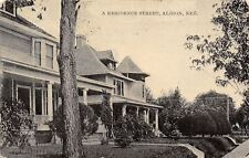 Albion NE The Way Many of Our Streets Are Fixed Here~Big Homes on Bank c1907