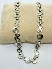 """CYNTHIA GALE ~GeoArt Sterling Silver 925 NECKLACE- 19"""" -HEAVY 64.2g #218"""