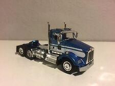 NEW BLUE & WHITE DCP 1/64 KENWORTH T800 DAYCAB SHORT FRAMES