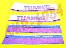 Série Décalcomanies Kit Autocollant Réservoir Aprilia Tuareg 125 de 1986 Blanc