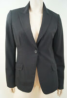 ELIE TAHARI Women's Black Wool Stretch Lined Formal Blazer Jacket US8; UK12