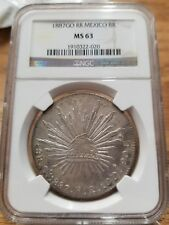 1887-Go RR 8 R Mexico - 8 Reales PCGS MS63