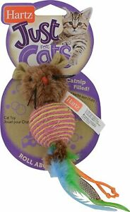 Hartz Just For Cats Rollabout Mouse Cat Toy, Catnip Filled, Assorted color