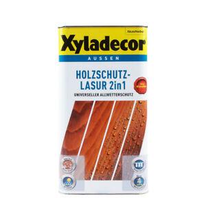 (9,60€/ L)Xyladecor Holzschutz-Lasur 2in1 5L versch. Farbtöne