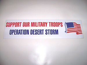 WHOLESALE LOT 100 OPERATION DESERT STORM USA FLAG BUMPER STICKERS