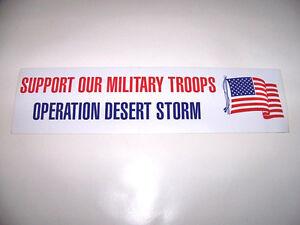 WHOLESALE LOT 100 OPERATION DESERT STORM USA FLAG BUMPER STICKERS