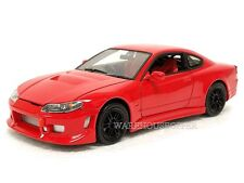 WELLY 1:24 DISPLAY NISSAN SILVIA S-15 Diecast Car Model Red Color 22485NS-4D