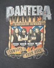 Pantera Vintage Cowboys From Hell T-Shirt Size XL Double Sided Black Distressed